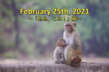 February 25th, 2021<br>「ああ、こわ!」編